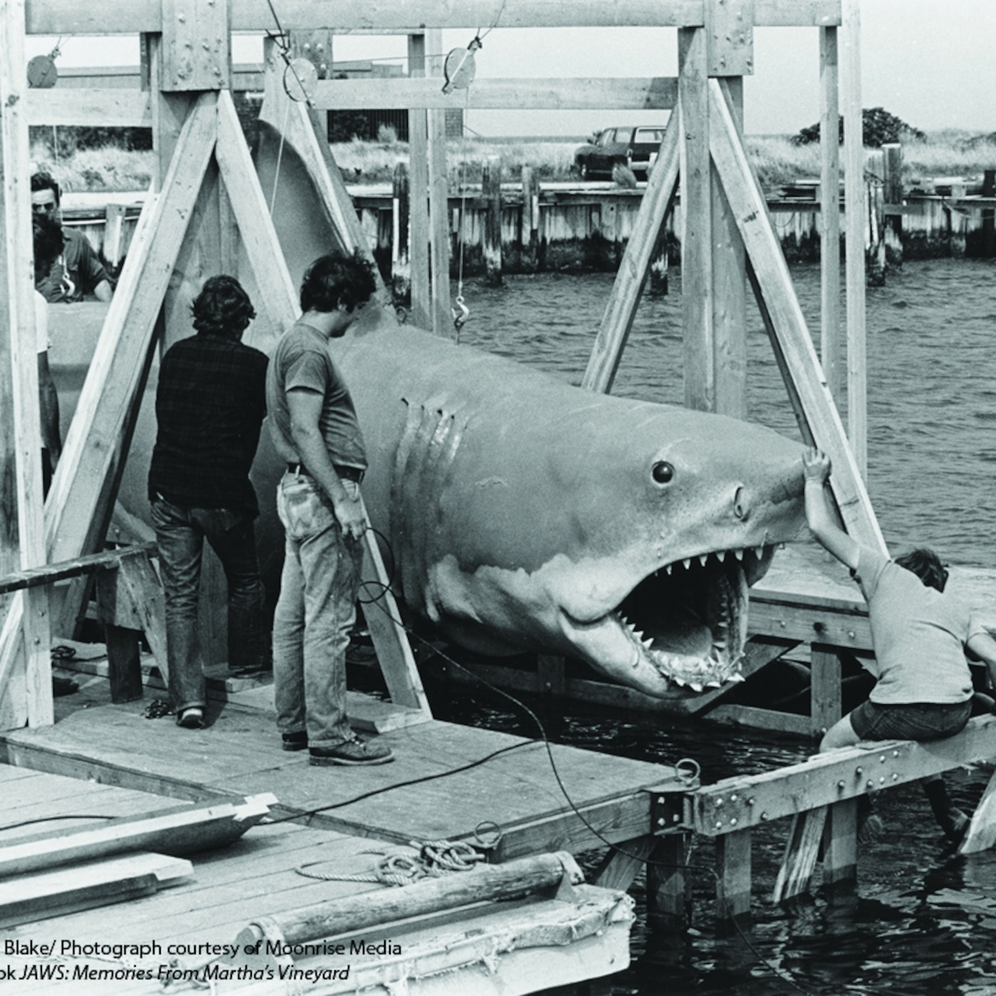 Rare Jaws behind the scenes photos