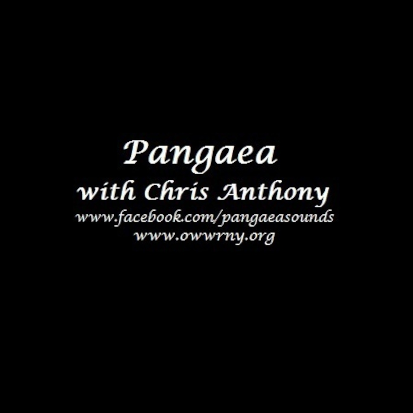 Pangaea with Chris Anthony