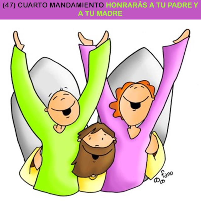 47) CUARTO MANDAMIENTO HONRARÁS A TU PADRE Y A TU MADRE