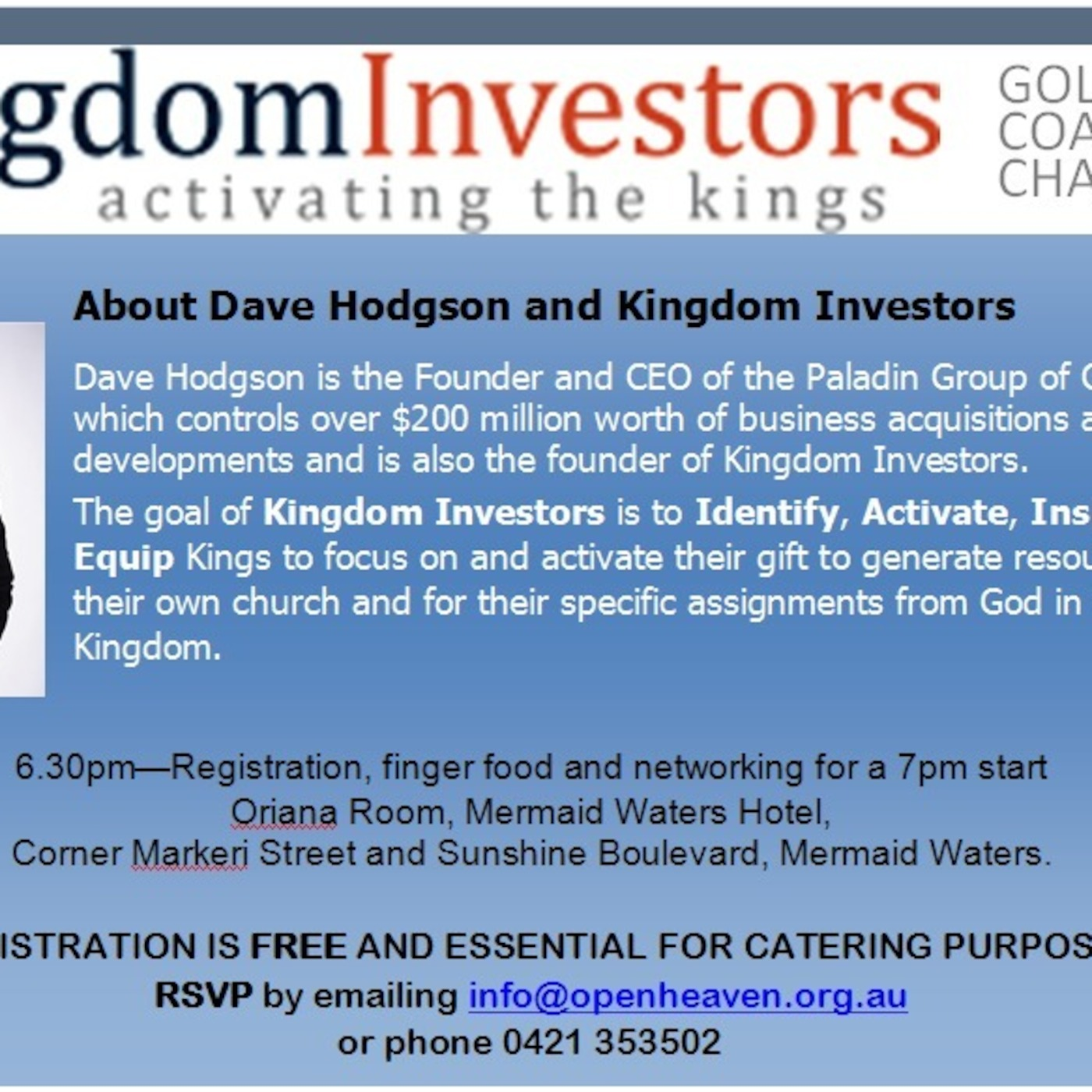 Kingdom Investors - Gold Coast Chapter