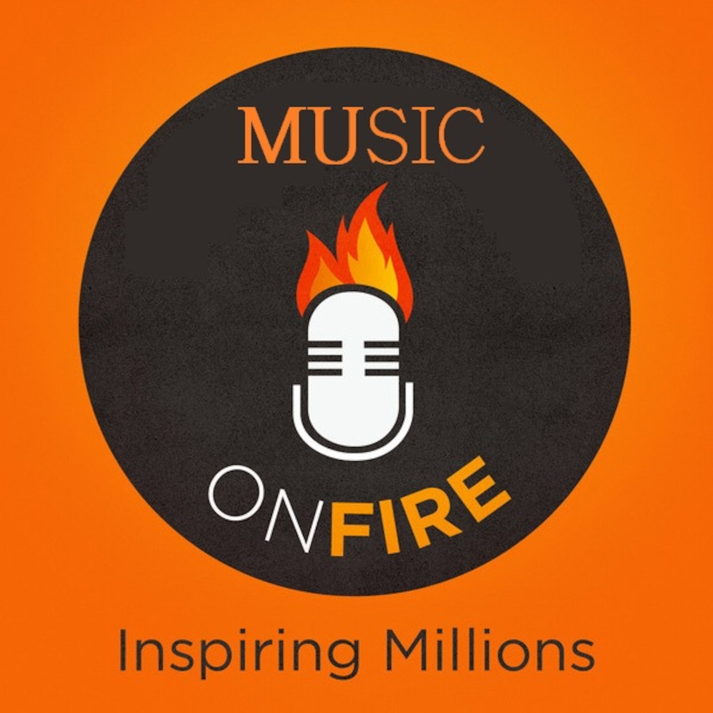 MUSIC ON FIRE podcast Logo