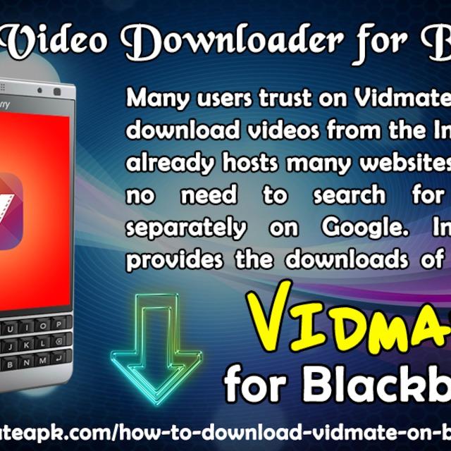 Vidmate Video Downloader for Blackberry