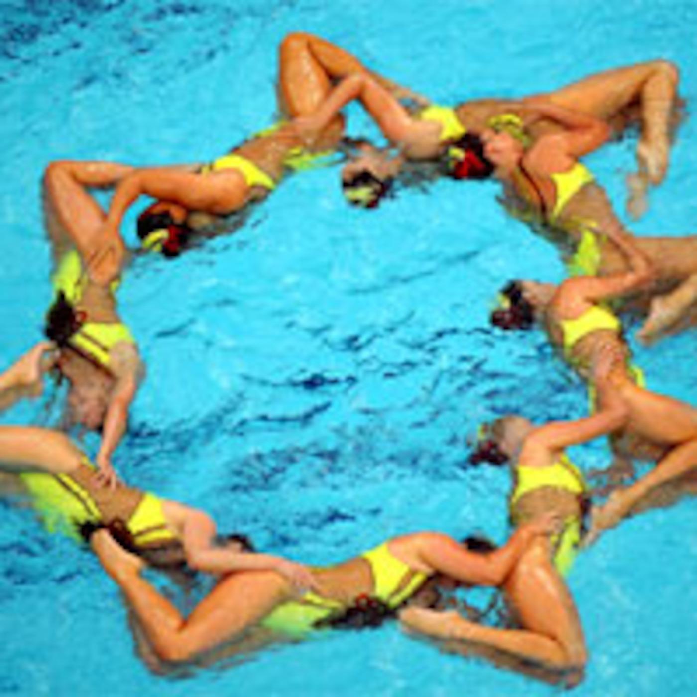 Синхронное плавание голые девочек 9 фотография
