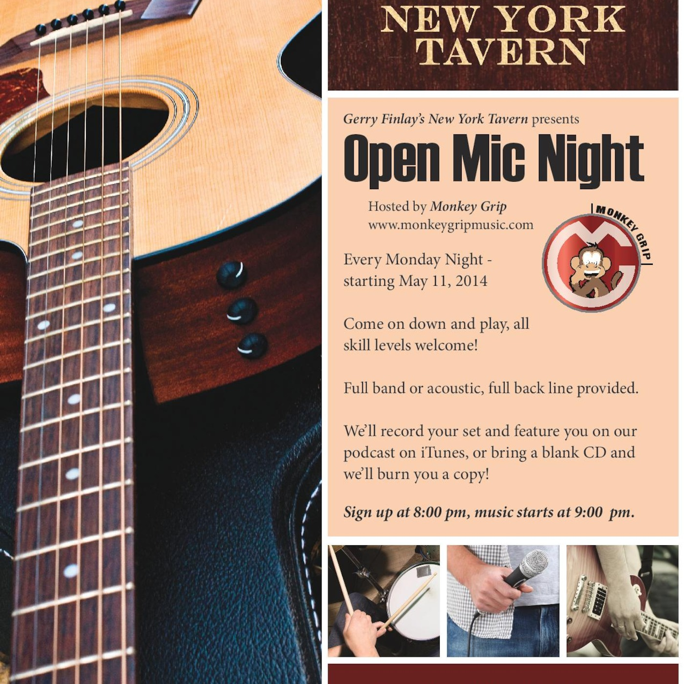 Gerry Finlay's New York Tavern Open Mic Night