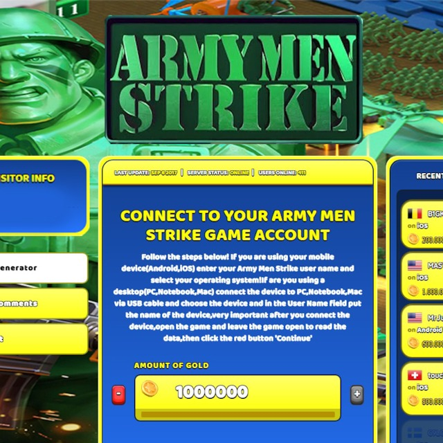 Army Men Strike Hack Cheat Online Generator Gold Unlimited