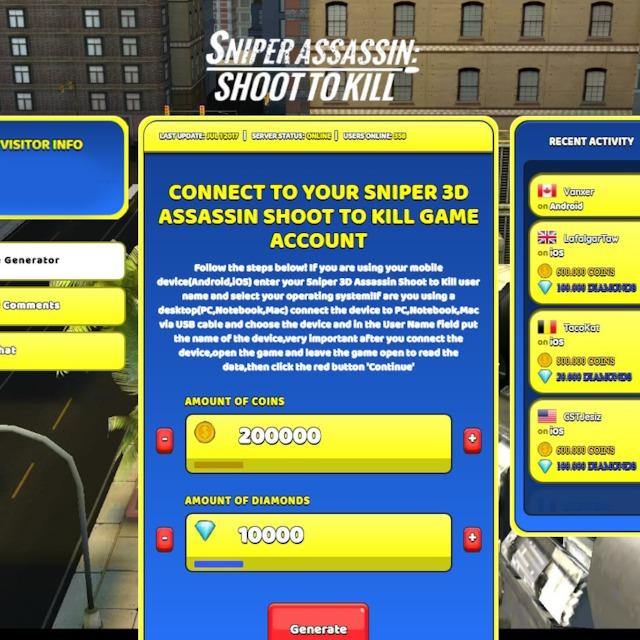 sniper 3d hack apk