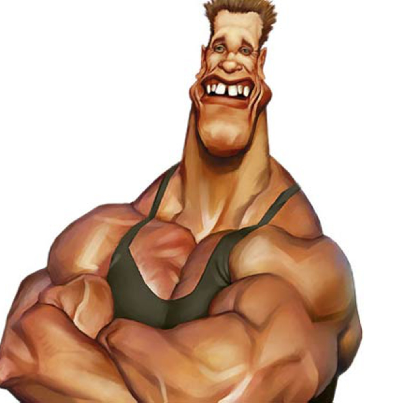 Sexy bodybuilder cartoon naked naked photo