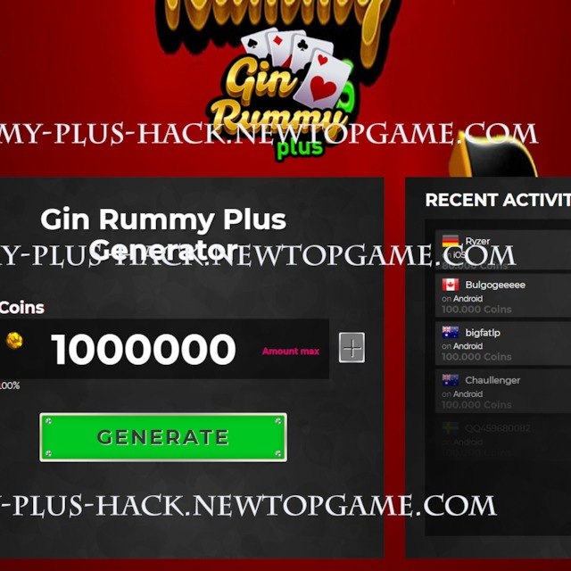 Gin Rummy Plus Hack Cheats Coins Working generator No Survey