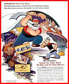 460>_627725&#8243; /></div> <p>Popeye the Sailor is a famous comic strip character, later featured in popular animated cartoons. He was created by Elzie Crisler Segar and first appeared in the King Features comic strip Thimble Theatre on January 17, 1929. Popeye is an independent sailor with a unique way of speaking, muscular forearms, and an ever-present corncob pipe. His strange, humorous, and often supernatural adventures take him all over the world, and place him in conflict with enemies such as the Sea Hag and King Blozo of Brutopia</p> <div class=
