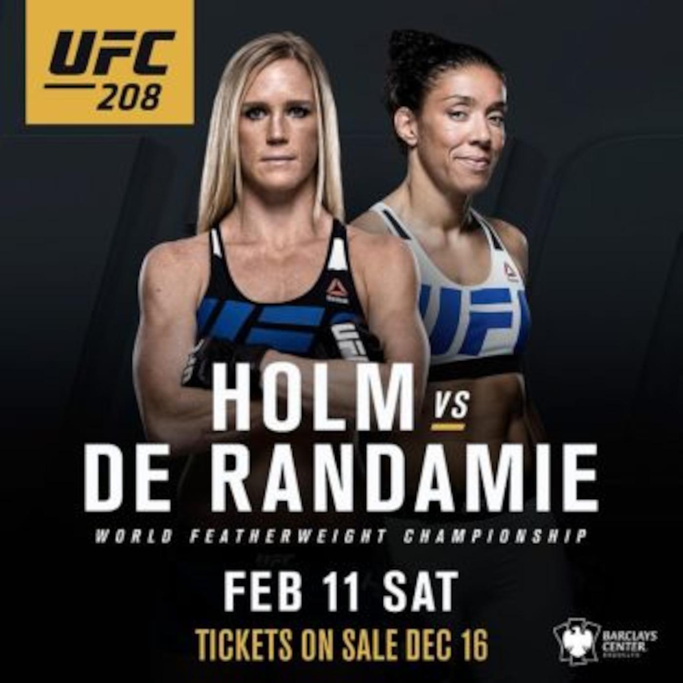 Bookie Beatdown: UFC 208: Holm...