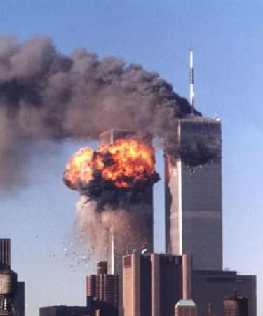 World Trade Centre on fire, 9/11