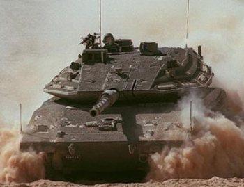 Israeli Merkava IV tank during Yom Kippur War