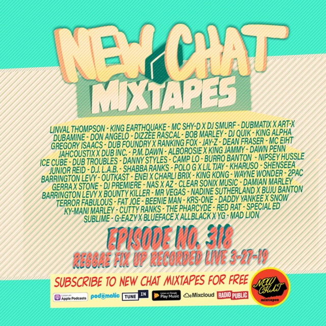 New Chat Mixtapes #318 - Reggae Fix Up live mix 4-4-19 by @djpetebodega