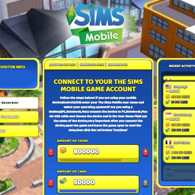 the sims mobile hack net