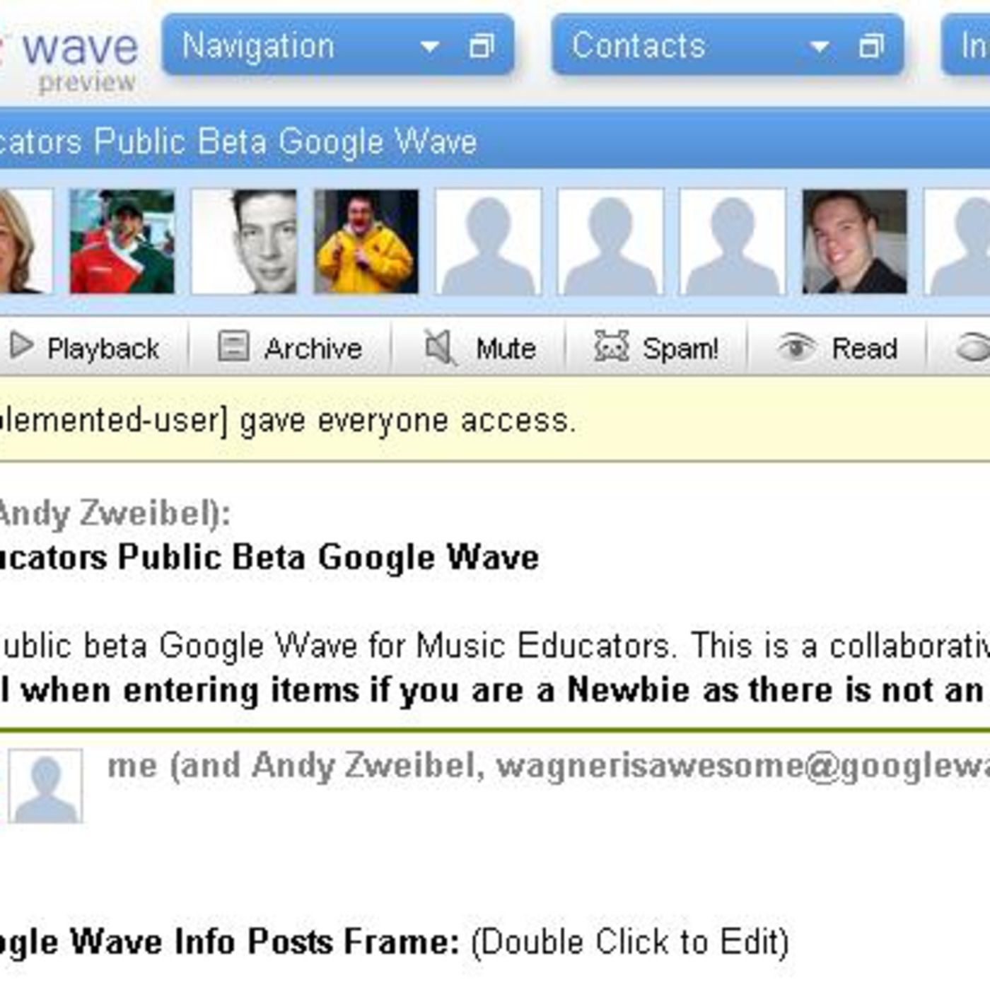 GoogleWave, Bad Teachers, & Broadcasting Live Music -MusTech.Net Episode E-17