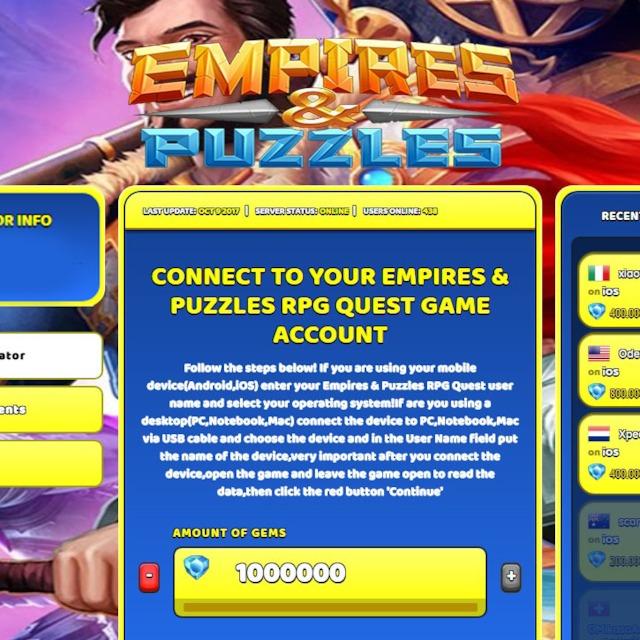 Empires & Puzzles RPG Quest Hack Cheat Online Generator Gems