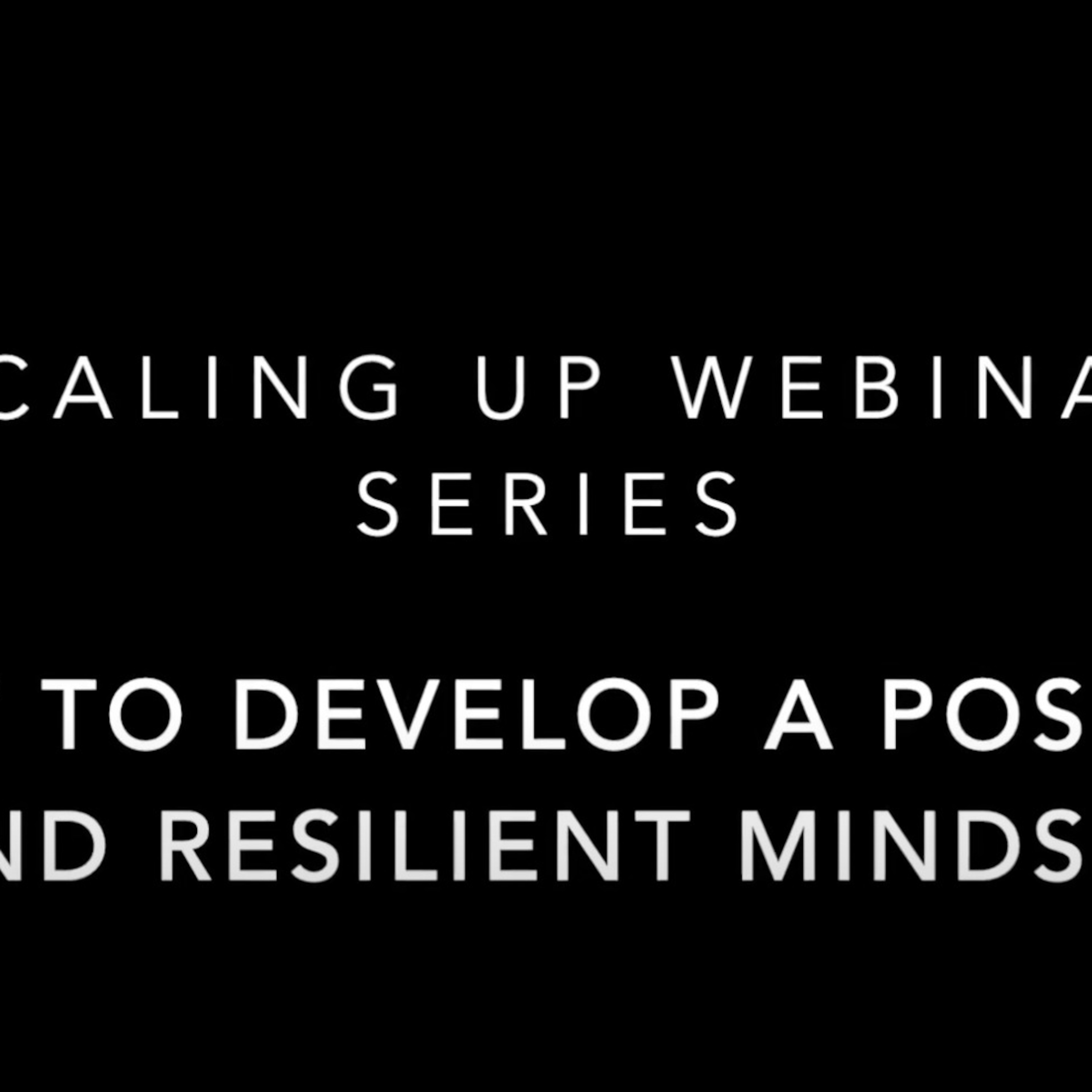 How to develop a positive and resilient mindset