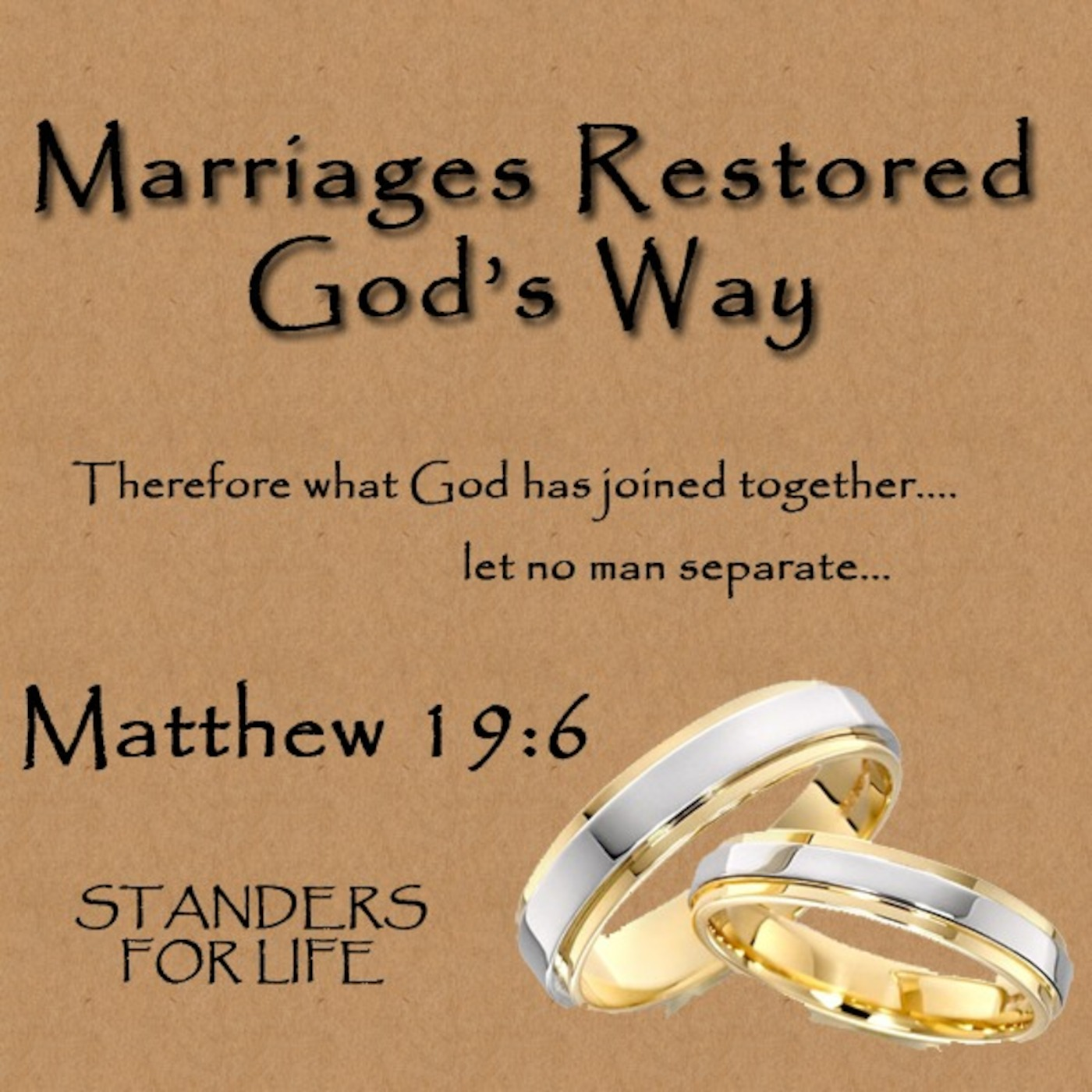 Marriages Restored God's Way