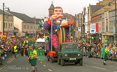 St. Patrick's Day parade, Downpatrick, Co. Down, Northern Ireland, August 2009 [Photo: RMcC]