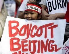 'Boycott Beijing' poster