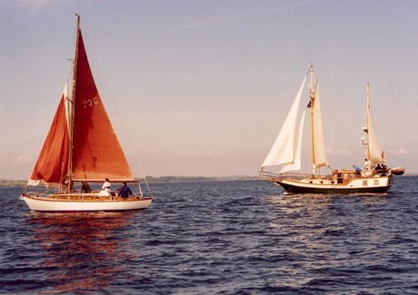 Classic boats on Strangford Lough, near Portaferry, Co. Down  [Photo: RMcC]