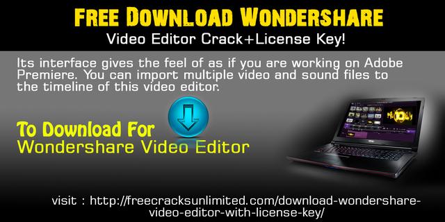 wondershare video editor crack file download