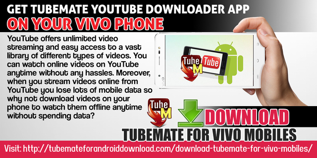 Get TubeMate YouTube downloader app on your Vivo phone