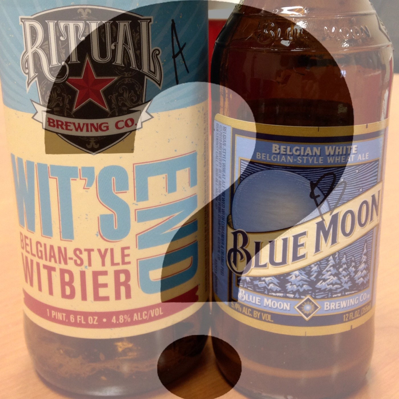 Can You Spot The Craft? Ritual Wit's End Vs  Blue Moon Beer