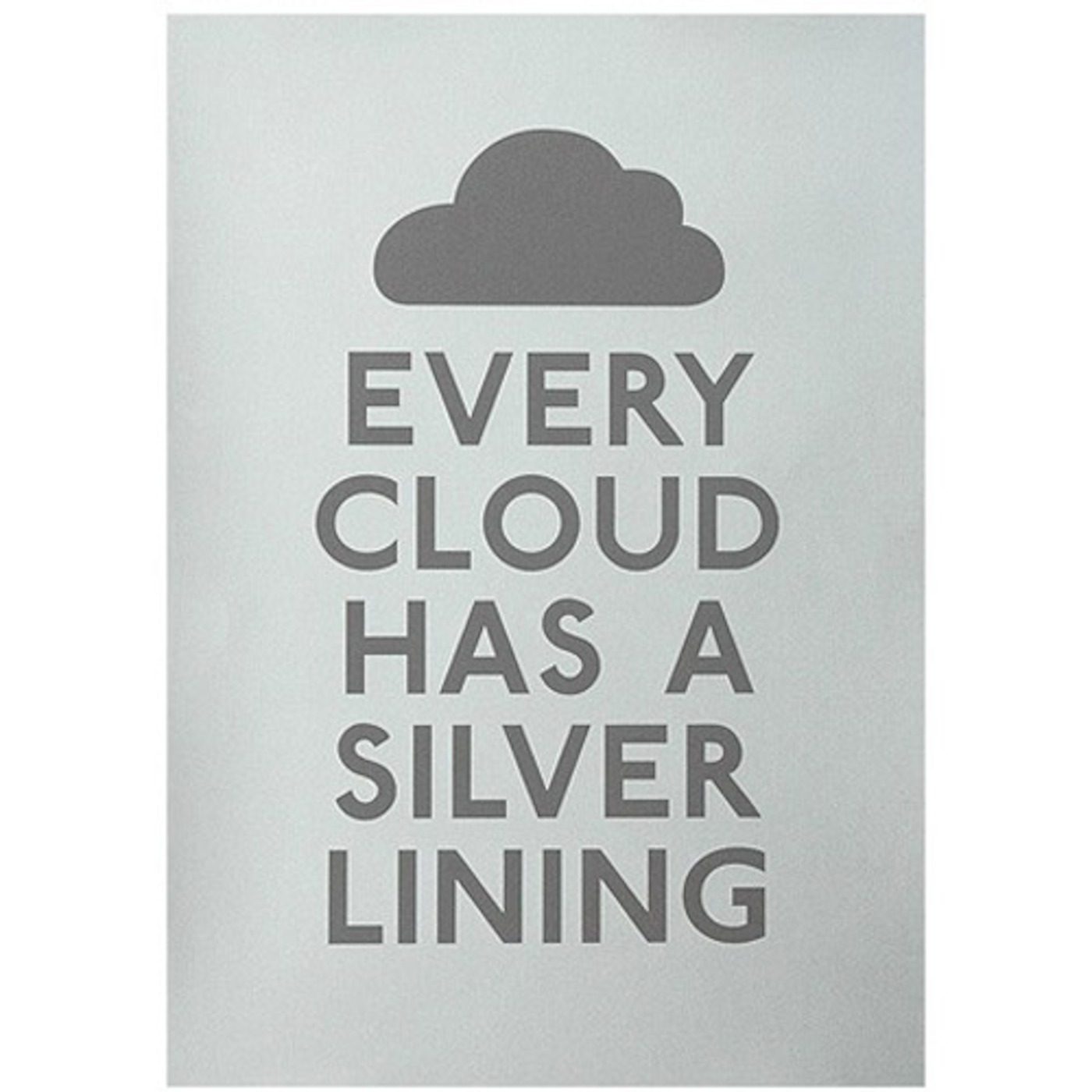 every cloud has a silver lining essay