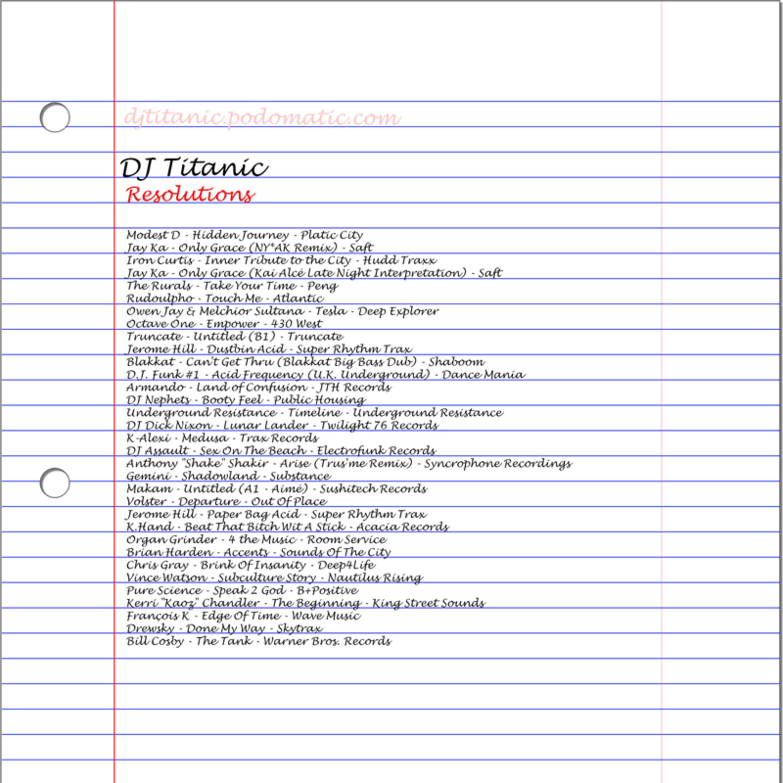 DJ Titanic - Resolutions (Live All-Vinyl DJ Mix Recorded 12/31/2015)