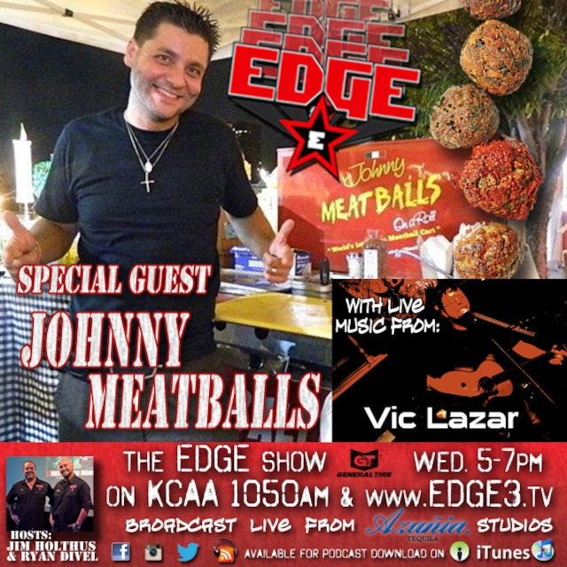 EDGE Radio - Johnny Meatballs music by Vic Lazar featuring hosts Jim