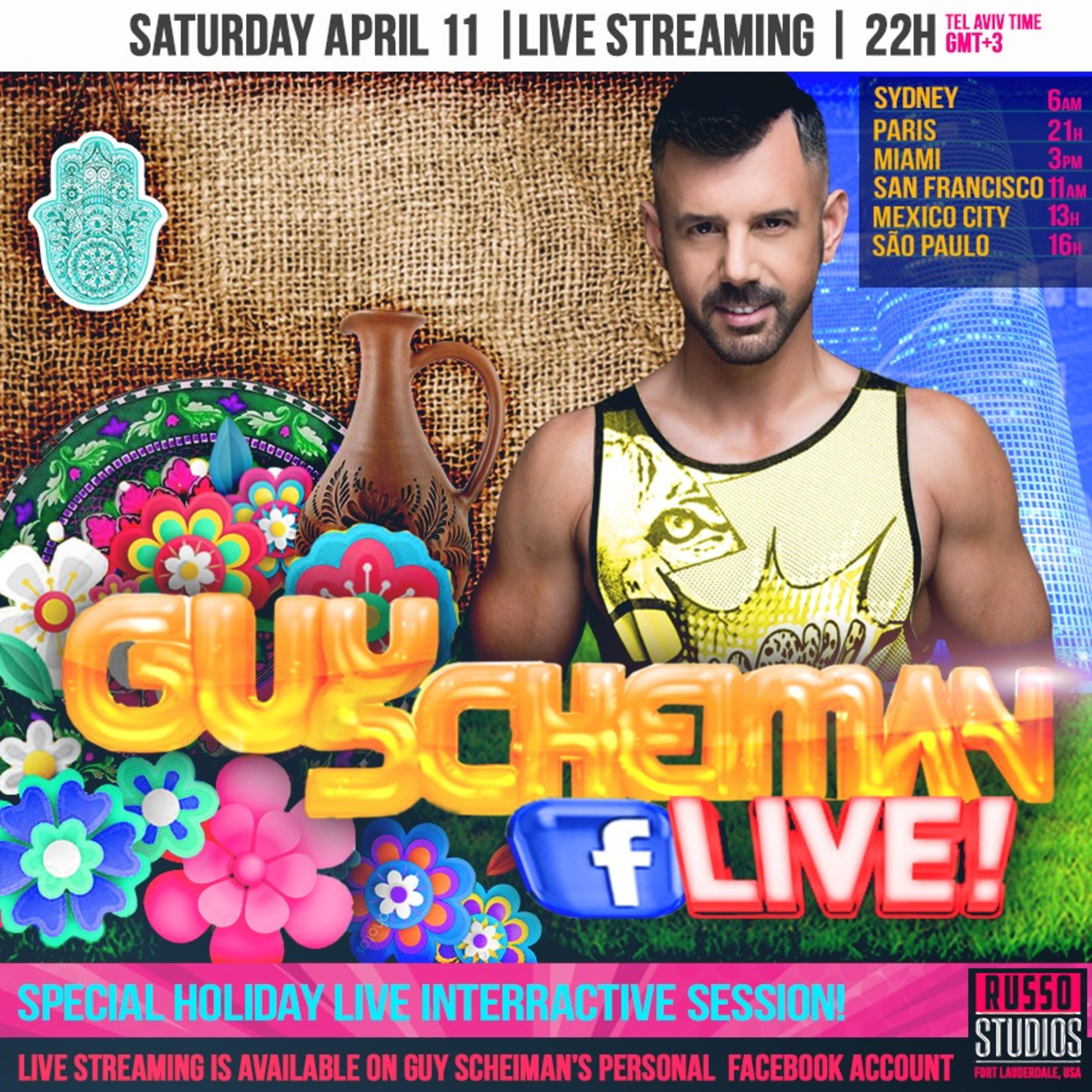 Guy Scheiman live Holiday Stream 11th April 2020