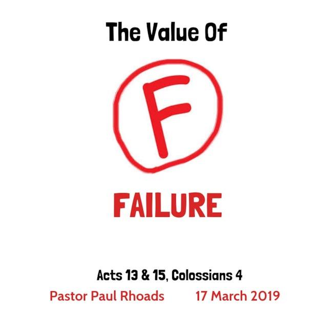 The Value Of Failing >> The Value Of Failure