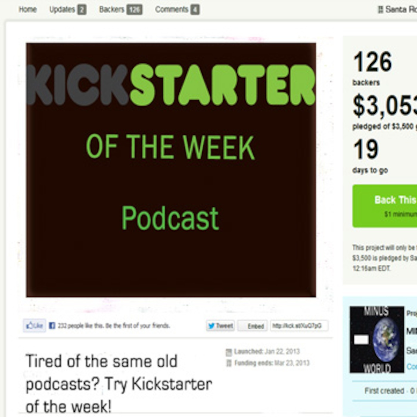 Kickstarter Of The Week