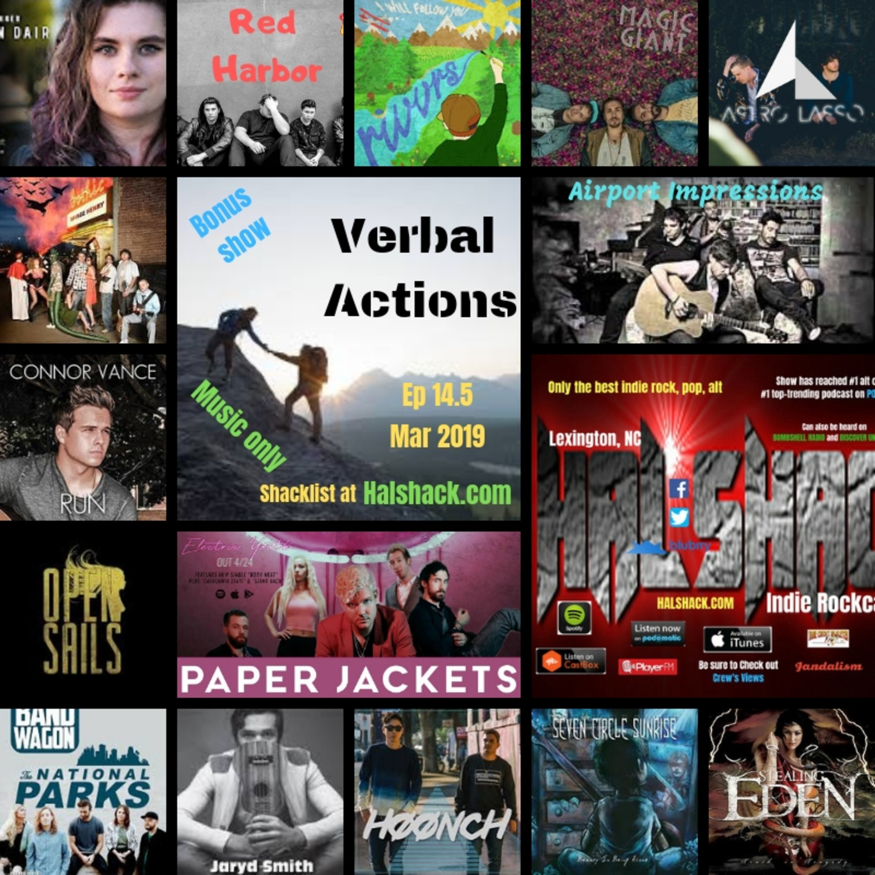 HALSHACK Ep 14.5 Verbal Actions 3-3-2019 (bonus show)- music only