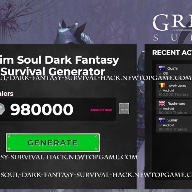 Grim Soul Dark Fantasy Survival Hack Thalers Generator No Survey