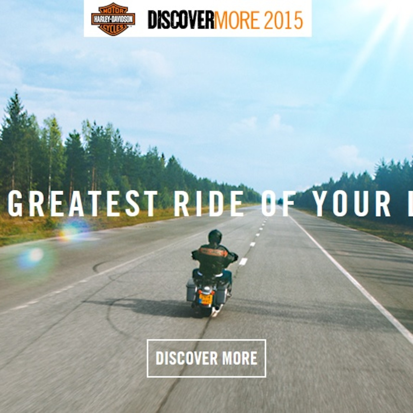 Discover More 2015 - Harley Davidson Rider Wanted