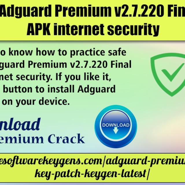 Download Adguard Premium v2 7 220 Final Cracked APK internet
