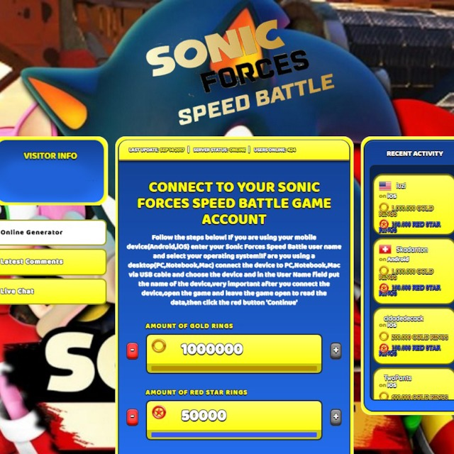 Sonic Forces Speed Battle Hack Cheat Online Generator Rings Unlimited