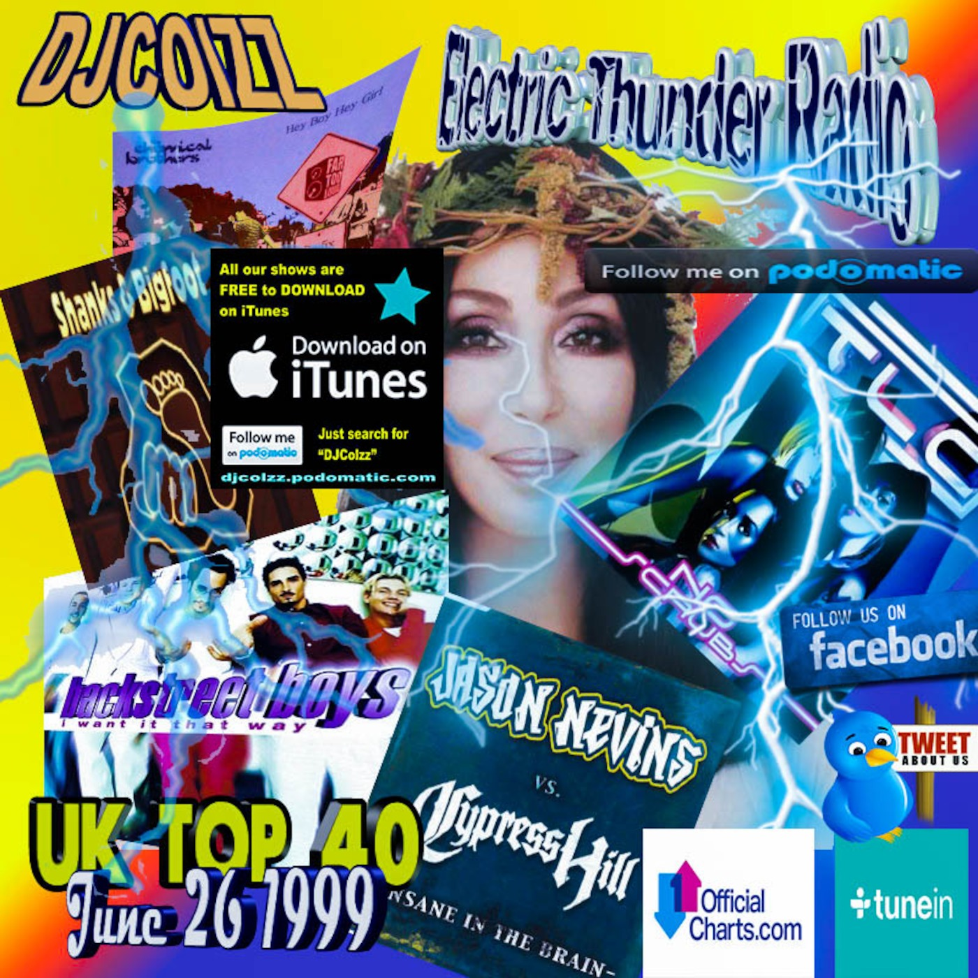 UK Top 40 Singles June 26 1999 Electric Thunder Radio podcast