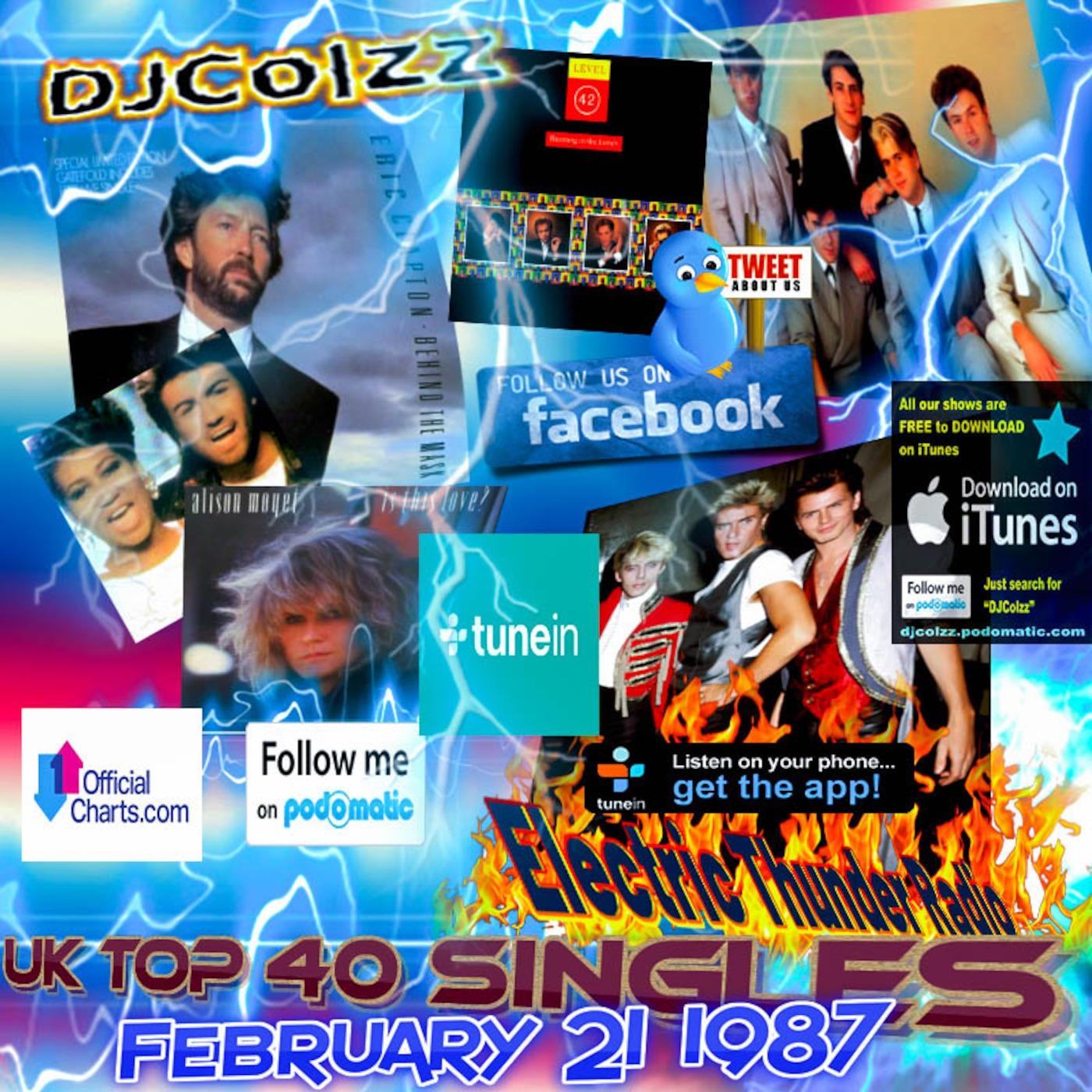UK Top 40 Singles February 21 1987 Electric Thunder Radio