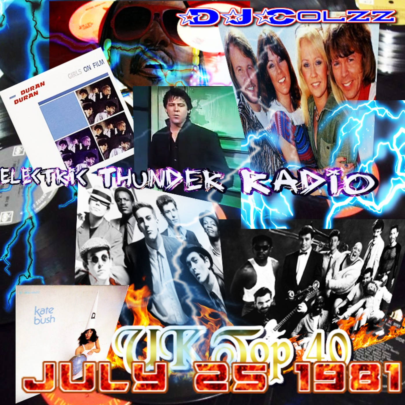 UK Top 40 Singles July 25 1981 Electric Thunder Radio podcast