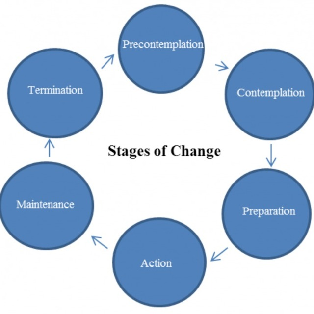Transtheoretical Stages Of Change Diagram Block And Schematic