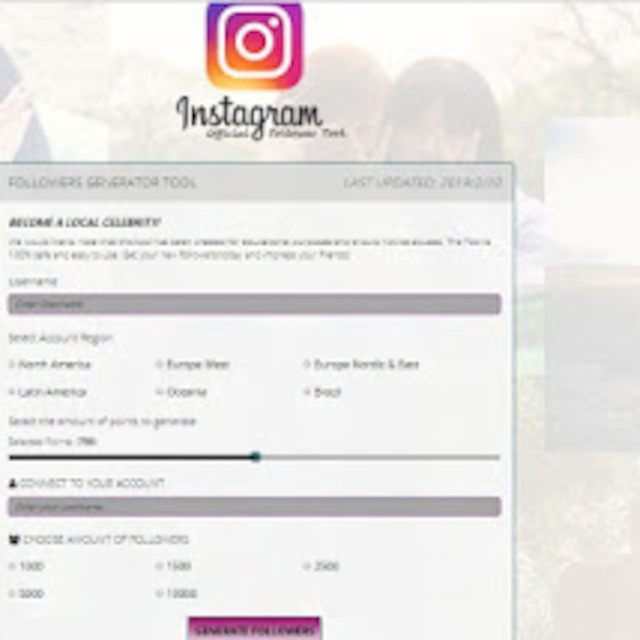 Official Instagram Followers Generator Tool 2019