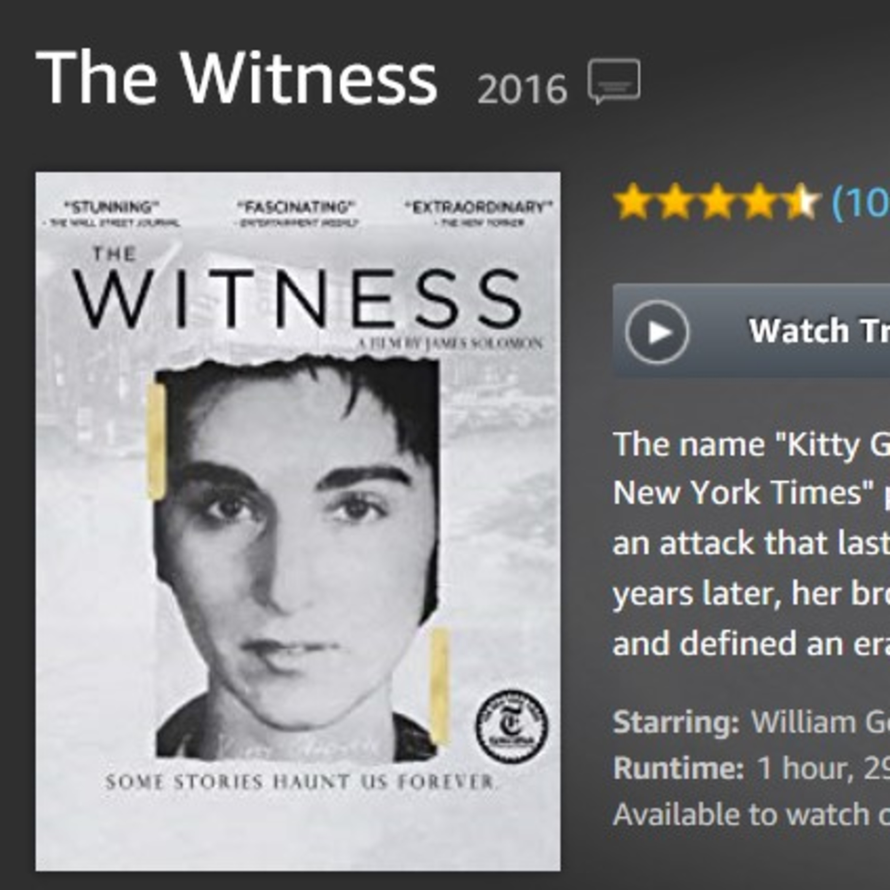 The Real Witness - Myth and Reality in the Kitty Genovese Case