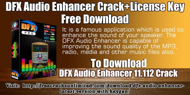 dfx audio enhancer free crack